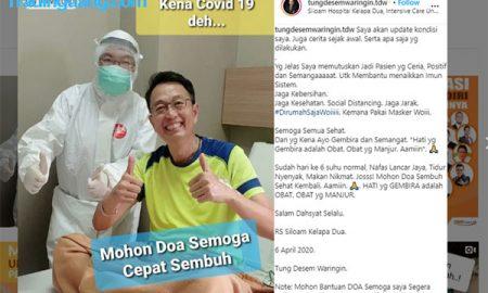 Motivator Bisnis Tung Desem Waringin Umumkan Positif Corona
