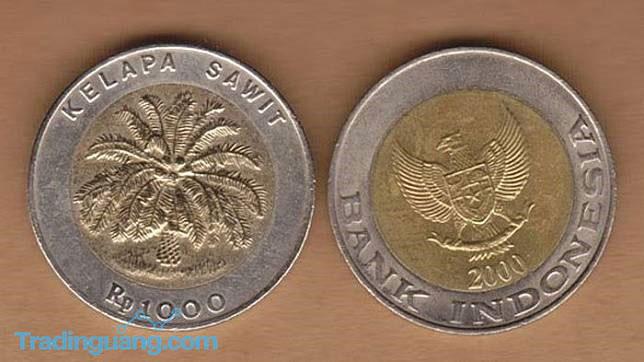 Uang Koin Rp 1.000 Kelapa Sawit Dijual Ratusan Juta